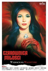 """Plakat filmu """"Czarownica miłości"""""""