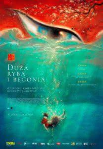 "Poster z filmu ""Duża ryba i begonia"""