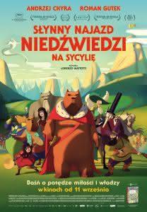 """Plakat filmu """"Słynny najazd niedźwiedzi na Sycylię"""""""